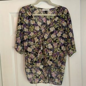 WAYF floral blouse purchased from Nordstrom.